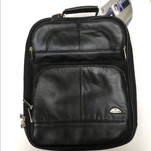NWT Samsonite leather computer backpack